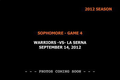 2012 Game 4 - Sophomore -vs- LaSerna