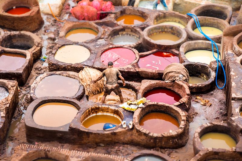 Photo by travel photographer Ugo Cei: Morocco, Fes, Chouara Tanneries