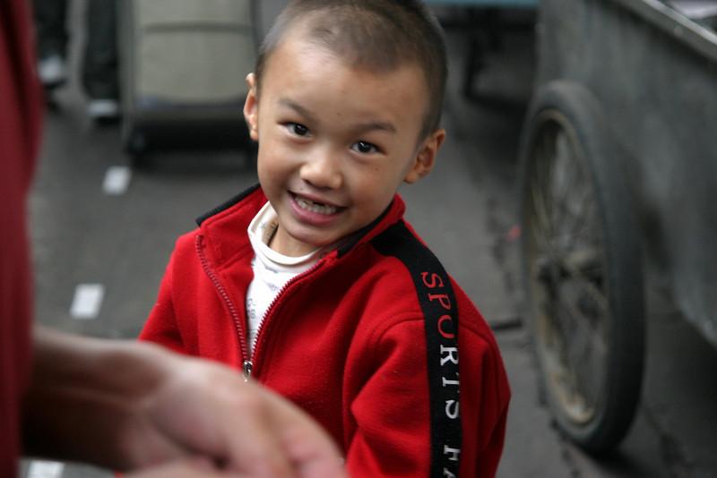 Xian station loved his photo being taken Qinghai -Beijing to Tibet Railway, Beijing to Lhasa  Oct  2006