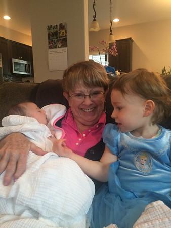 Great Grandma & Grandpa Ritter Visit