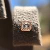 .52ctw Asscher Cut Diamond Bezel Stud Earrings, 18kt Rose Gold 24