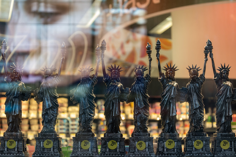 Statues of Liberty - New York, NY, USA - August 17, 2015