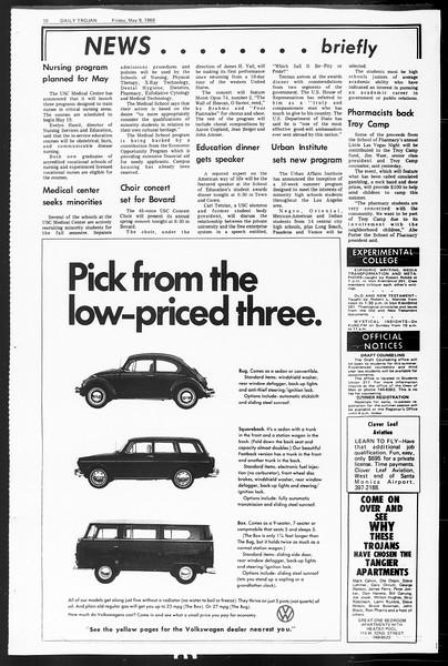 Daily Trojan, Vol. 60, No. 120, May 09, 1969