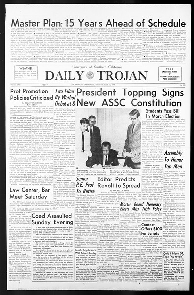 Daily Trojan, Vol. 57, No. 121, May 17, 1966