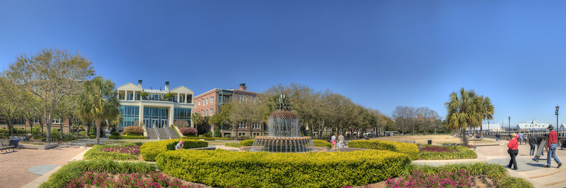 The famous pineapple fountain in Waterfront Park in downtown Charleston, SC on Saturday, March 9, 2013. Copyright 2013 Jason Barnette