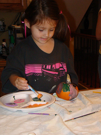 Family Fun Painting Pumpkins