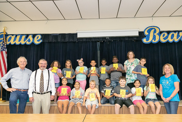 Rockdale Rotary donates to Gause 3rd Grade 2018