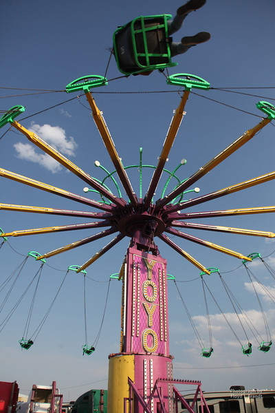 Havre Daily News / Floyd Brandt  Flying through the air at The Great Northern Fair in Hill County Thursday