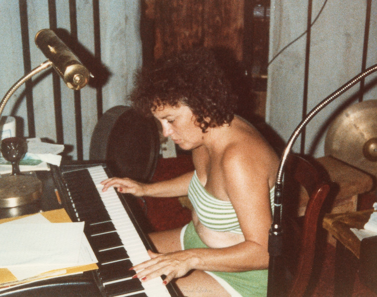 Shirley Lebin, Summer 1978. Playing the Wurlitzer electric piano.
