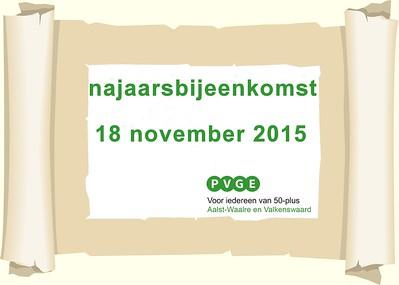 2015-1118 PVGE najaarsbijeenkomst
