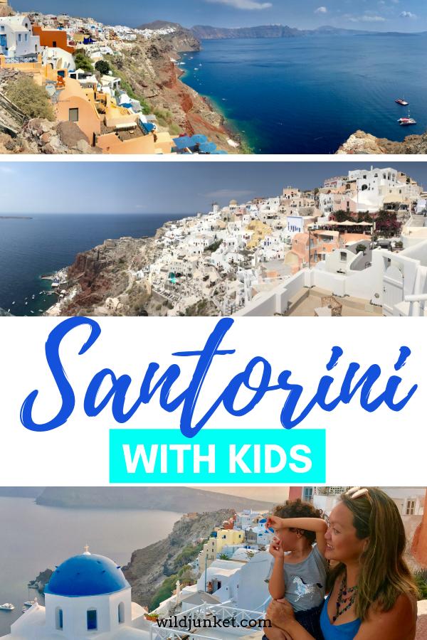 santorini with kids