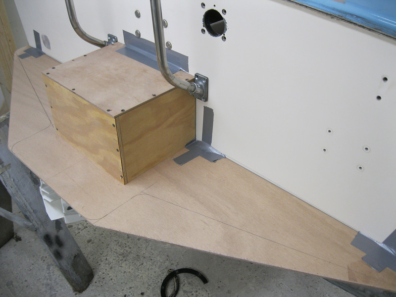 Top view of the boarding platform mock up.