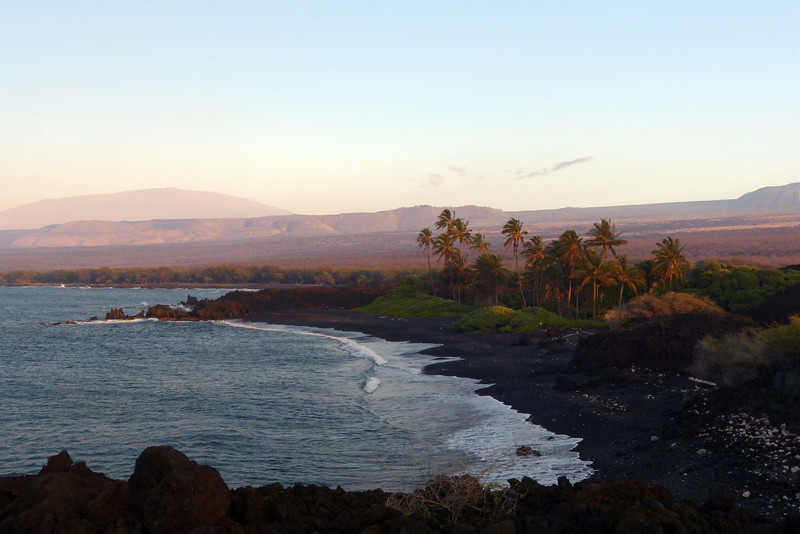 Luahinewai in Kiholo Bay with Evening Light January 2013, Cynthia Meyer, Hawaii