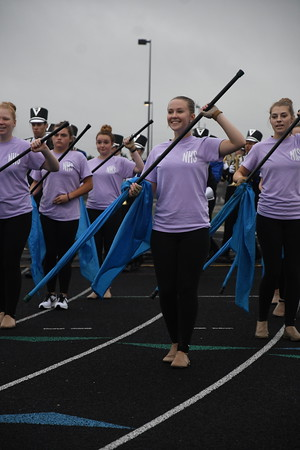Marching Band at Football vs Bennington