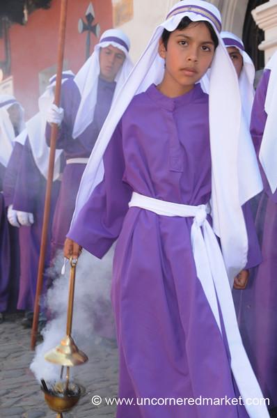 Incense Bearer, Semana Santa - Antigua, Guatemala