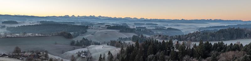 Panorama Emmental - Alpen
