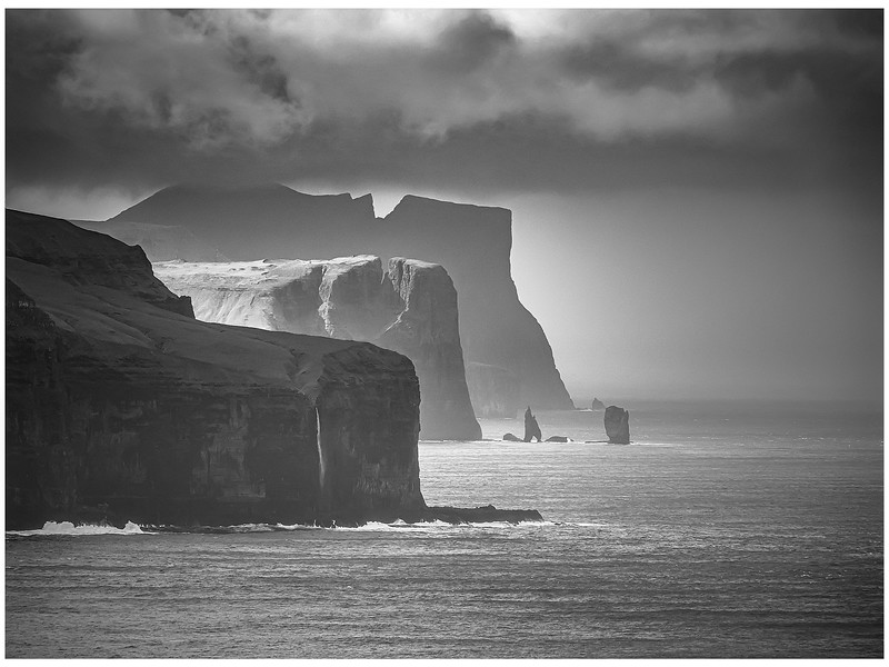 Faroe Coast 27    black and White Photography by Wayne Heim