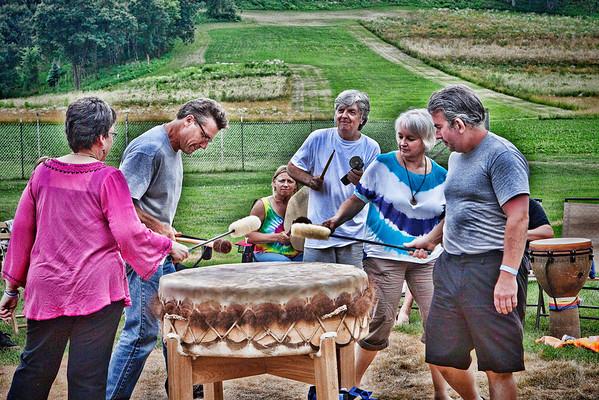 Drum Circle at Justin Trails 2013