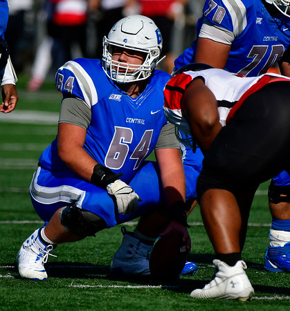11/9/2019 Mike Orazzi | StaffrCCSU's Craig Wood (64) Saturday against Saint Francis in New Britain.