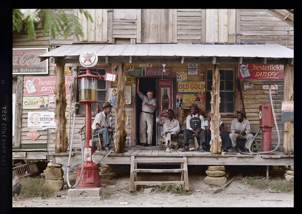 Old Gold Country store, 1939 (Colorized by Jordan J Lloyd)