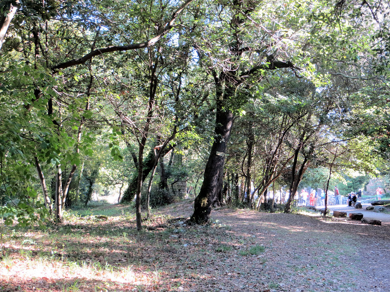 The park land surrounding Butrint is very pleasant to walk through.  The park is not choked with souvenir stands and fast food sellers, like at some popular tourist sites of the ancient world.  We did walk past a little craft fair that was selling local handicrafts, but that just added to the charm.