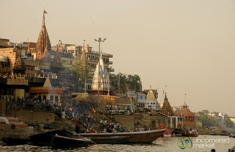 Dusk Along the Ganges River - Varanasi, India