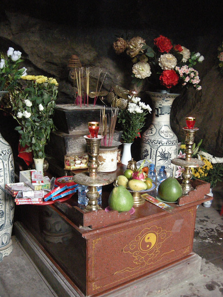 Shrine to the 9 people who were trapped in a cave and died