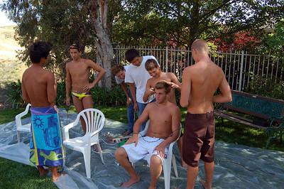 4/29/2008 - Boy Swim Team Shave Party