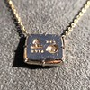 'For You I Live' 18kt Rose Gold Cast Rebus Pendant, by Seal & Scribe 27