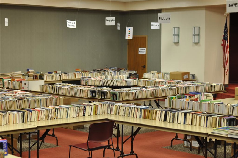book sale all nice and neat and ready to open the doors.jpg