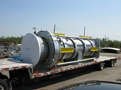 Universal expansion joint ready for shipping