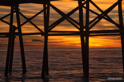 Sunset at Yaupon Beach Fishing Pier - Oak Island, NC