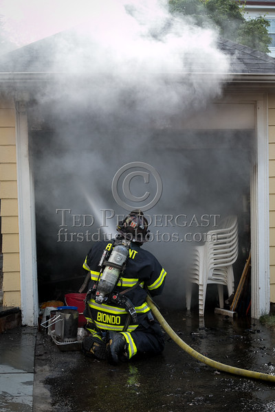 Belmont MA - Garage fire on Van Ness Rd