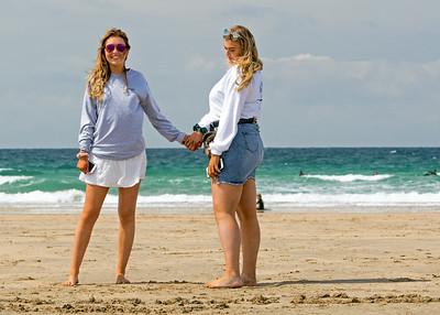 Chloe & Charlotte( Fistral Beach)