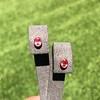 .98ctw Padparadscha Sapphire Bezel Stud Earrings 0