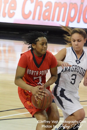 03-13-2014 Magruder HS vs North Point HS Girls Varsity Basketball 4A State Semi Finals, Photos by Jeffrey Vogt Photography
