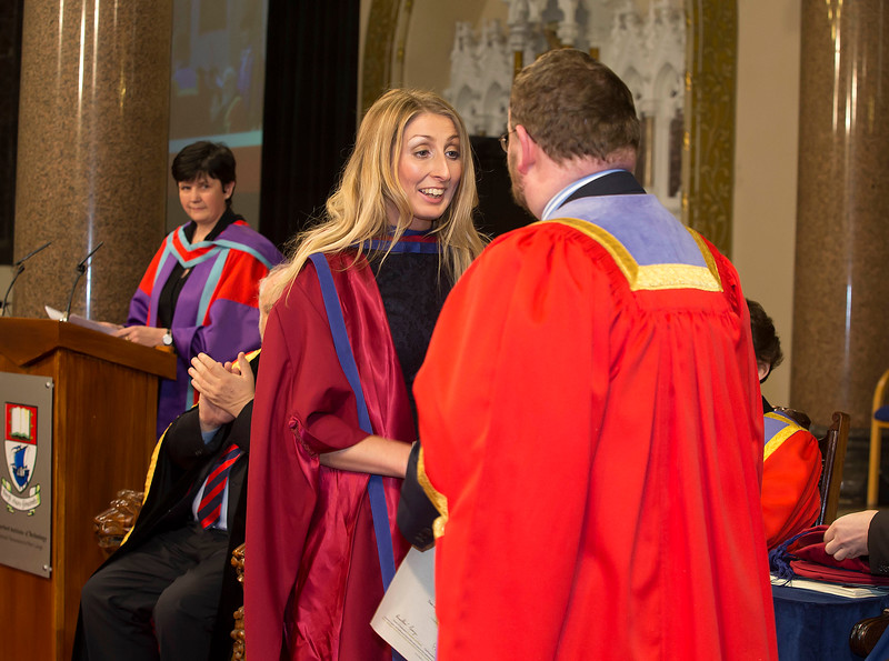 Pictured are Elaine Alyward, Kilkenny, who was conferred a Doctor of Philosophy . Picture: Patrick Browne