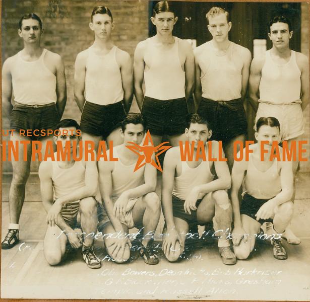 BASKETBALL  Independent Champions   -Names not in order Otis Bowers, Dean Metts, Bob Harkriser, Gresham, Russel Allen, Temple