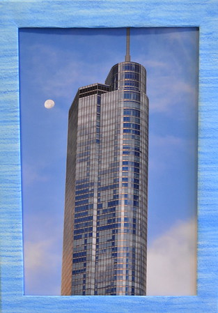 60  Chicago Loop with Moon