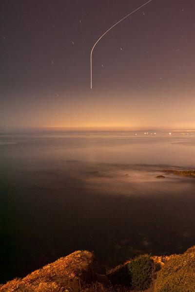 La Jolla coastline under a bright moon