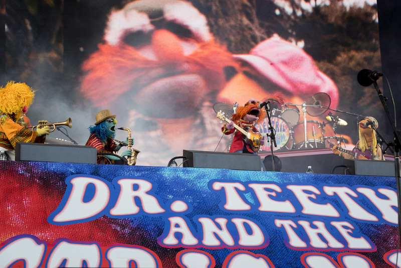 Dr. Teeth & Electric Mayhem performs during the Outside Lands Music Festival 2016 in Golden Gate State Park, San Francisco CA.
