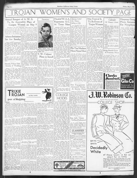 Daily Trojan, Vol. 24, No. 137, May 05, 1933