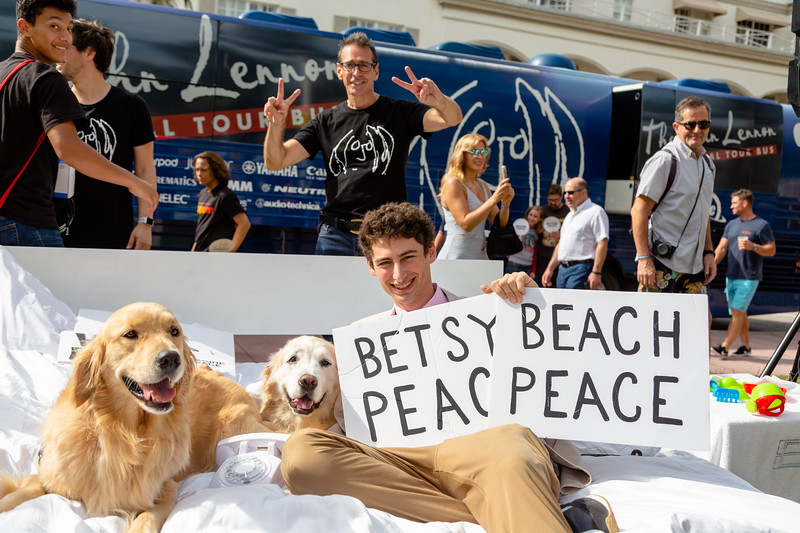 2018_11_03, Beach, Beach Bed In, Bed In, Bed In on the Beach, Come Together, Come Together Miami, FL, Florida, Miami, Miami Beach, The Betsy, The Betsy Hotel, Dog, Brian Rothschild, Bus, Exterior, Matt Reich, OWC