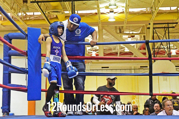 Bout #4: Juan Rivera, Blue Gloves, Philadelphia -vs- Marcellous Smith, Red Gloves, E. Cleveland, 65 Lbs.