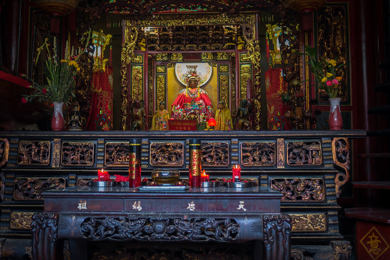 Incense and candles at a Chinese pagoda