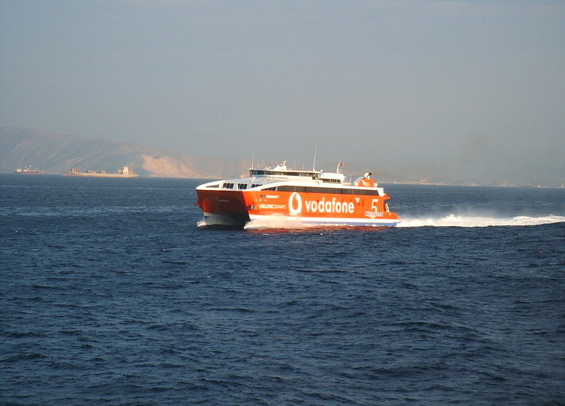 HSC HIGHSPEED 5 sailing from Piraeus to Kyklades.