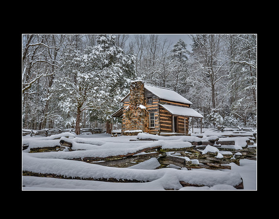 Snow At John Oliver Cabin
