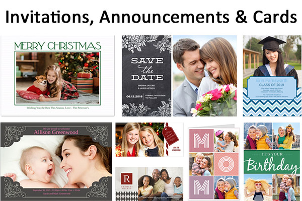 Invitations, Announcements and Cards