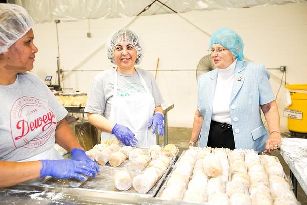 Dewey Bakery - Rep. Foxx visit