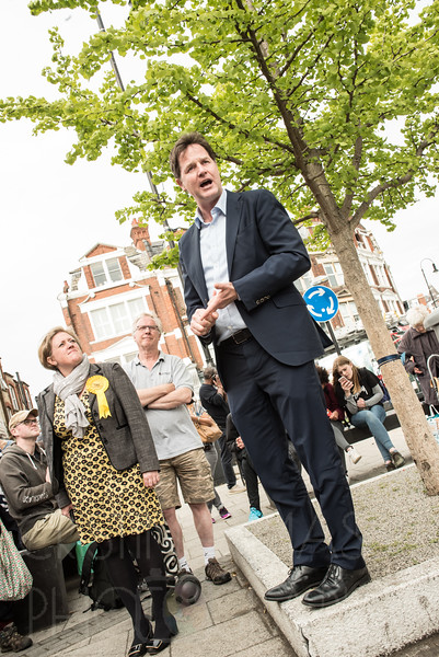 Nick Clegg in Muswell Hill